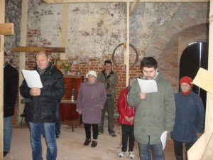 Молебен в церкви Рождества Богородицы в Пречистом бору