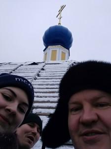 Наше селфи на куполе храма.