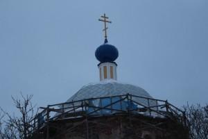 Новая кровля храма Рождества Богородицы в Пречистом бору.